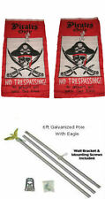 3x5 Pirate Pirates Only Trespassing 2ply Flag Galvanized Pole Kit Top 3'x5'
