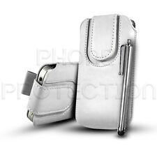 Knopf Leder Pull Tab Case Cover Etui & Stift Für Verschiedene Sony Ericsson Handy
