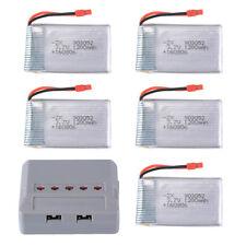 5pcs 3.7V 1200mAh LiPo Battery JST Charger for Syma X5HC X5HW Drone RC474