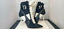 Puma Fenty by Rihanna 13 Black White Suede Womens High Heel Shoes  UK6