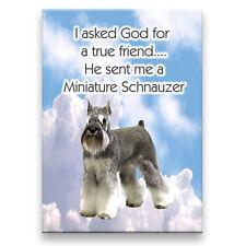 MINIATURE SCHNAUZER True Friend From God MAGNET No 1