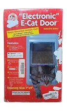 "7""X 9""Small Electronic Cat Flap Pet Door W/Magnetic E Collar Galvanized Steel"