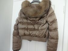 Stunning Prada Coat/Jacket With Fox Fur Hood Size 8 to 10