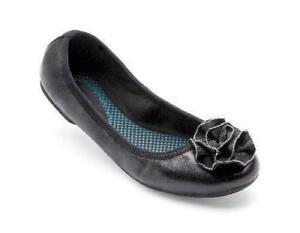 Lindsay Phillips Black Leather LIZ Ballet Flats Shoe Interchangeable Snaps