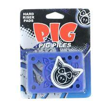 """PIG Pile Skateboard RISERS Hard Blu 1/8"""" abbastanza per una nuova impostazione"""