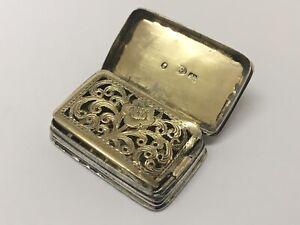 Beautiful Victorian Solid Silver Vinaigrette by Joseph Willmore Birmingham 1840