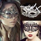 Fancy Venetian Metal Filigree Masquerade Party Mask Laser Cut with Rhinestones