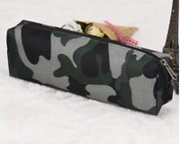 Camouflage Army Green Pencil Pen Case Combat Boys Kids School College Travel Bag