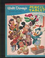 Walt Disney's Official Pencil Tablet 1950s Donald Duck Mickey Mouse Musicians