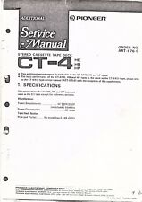 Pioneer Service Manual Pour Ct - 4