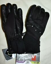 Nevica Womens Banff Ski Gloves Waterproof Windproof size M Black/Leather