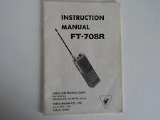 YAESU FT-708R (GENUINE INSTRUCTION MANUAL ONLY)...........RADIO_TRADER_IRELAND.