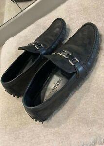 Louis Vuitton Leather Loafer LV Damier Infini Hockenheim Mocassins Black EU 43.5