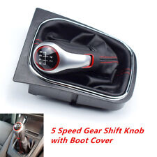 5 Speed Gear Shift Knob with Boot Cover Fit for VW Volkswagen Golf 6 MK5 MK6 Set