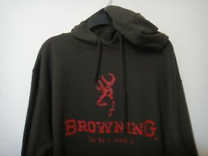 Browning Rugged Outdoor Apparel Men Hoodie Color Hunter Dark Green Size X-Large