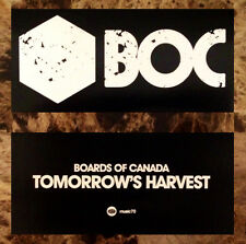 BOARDS OF CANADA Tomorrows Harvest Ltd Ed RARE Sticker+FREE Dance/Indie Stickers