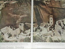 1948 magazine article Mesa Verde, ancient Cliff Palace, Colorado Native Indians