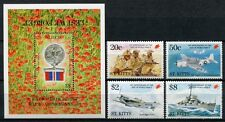 St. Kitts 1995 2. Weltkrieg Orden Flugzeuge Schiff Militär 398-401 + Block 1 MNH