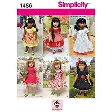 SIMPLICITY SEWING PATTERN 18 INCH (45.5CM) DOLL CLOTHES DRESS SLIP PANTIES  1486
