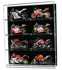 Acrylic Model Wall Display Case for 1:12 Scale Motorcycles - 4 Shelves