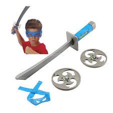 NEW TMNT Teenage Mutant Ninja Turtles Leonardo Bandana Sword Combat Throw Stars