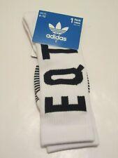 adidas EQT Cushioned Crew Socks WHITE / BLACK OS (6-12) NEW! CI4277 Trefoil