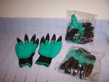 3 Pair Garden Gloves for Digging Weeding Seeding with Fingertips/Claws New