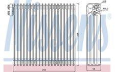 NISSENS Evaporador aire acondicionado 92213