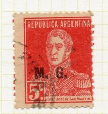 Argentina 1923 Early Official MG Optd Issue Fine Used 5c. 188384