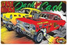 Hot Rod Drag Race Car East Coast Dash Metal Sign Man Cave Garage Shop SLP024