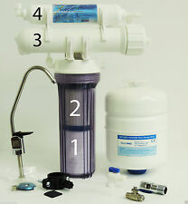 Max Water 4 Stage Home Drinking Reverse Osmosis System - RO Water Filter 50GPD