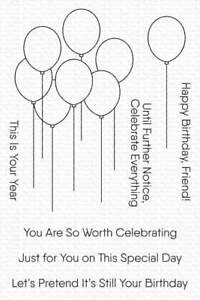 My Favorite Things Balloon Bouquet Stamp  8pc