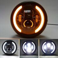 7.5 Inch Motorcycle LED Headlight High Low Beam DRL Light Lamp Universal