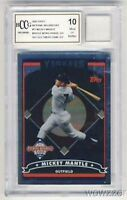 2006 Topps #T2 Mickey Mantle WORN YANKEES JERSEY Beckett 10 MINT GGUM