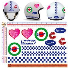 adesivi casco vespa love you sticker helmet vespa italian flag 13 pz.