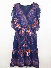 Sangria Dress Blue Chiffon Fit And Flare Dress Size Small Maxi Bohemian Dress