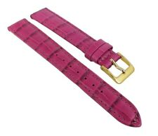 Nevada Watch Band Calf Leather Crocodile Embossing Pink - Short Length 25698G