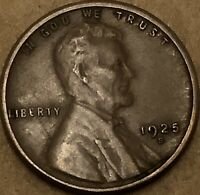 1925 -S. Extra Fine Lincoln Cent Wheat Penny. Copper Details. Lincoln Small Cent
