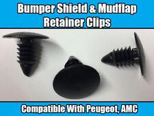 Clip 10x per PEUGEOT AMC Fender, Fango Flap & Paraurti Fermo Scudo Nero Nylon