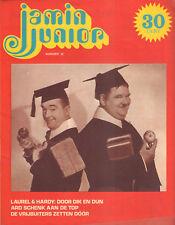 MAGAZINE JAMIN JUNIOR 1972 nr. 18 - LAUREL & HARDY (COVER) / ARD SCHENK / FLORIS