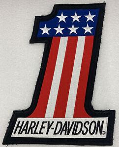 Rare Harley Davidson USA # 1 Evel Knievil Extra Large Jacket Or Vest Back Patch