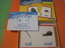 Rhyming Words Puzzle Cards w Photos Learning Resources Reading Phonics PreK New!