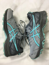Asics 6.5 Womens Gray Gel Sonoma Sneakers Shoes Running Aqua In Box