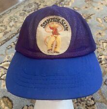 Vintage Calgary Stampede Slim Snapback BLUE Size M/L