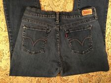 Levi's 505 Womens Blue Jeans Size 8M Straight Leg Nice Denim Cute Rear Stitching