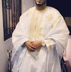 AUTHENTIC TRADITIONAL AFRICAN TUAREG GRAND BOUBOU 3PCS SET, AGBADA HAUSA DRESS