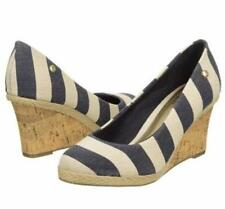"""NEW Women's LifeStride """"Costume"""" - WAS $60! - size 6.5, navy/natural, 3"""" wedge"""