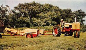 H66/ Navarre Ohio Postcard Chrome Farmers Supply Store Case Tractor 153