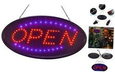 Led Open Sign for Business 19 X 10 Inch, Two Modes Light Steady Flashing Electro