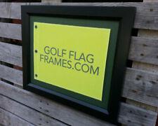 17x23 Black Golf Flag Frame Moulding Blk-003 Reversible Green-black Mat 14x20